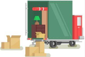 Camion de déménagement et sationnement