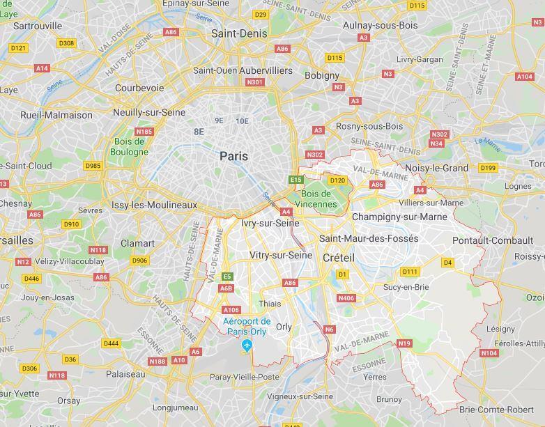 Plan du Val de Marne
