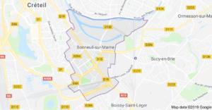 Plan de Bonneuil sur Marne - Déménagement