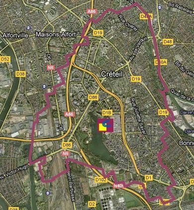 Déménager à Créteil avec J'enlève Je livre : le plan interactif
