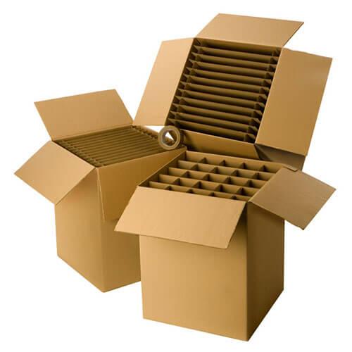 Cartons pour vaisselle