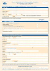 Aperçu Formulaire d'inscription sur les listes électorales : Cerfa 12669-02