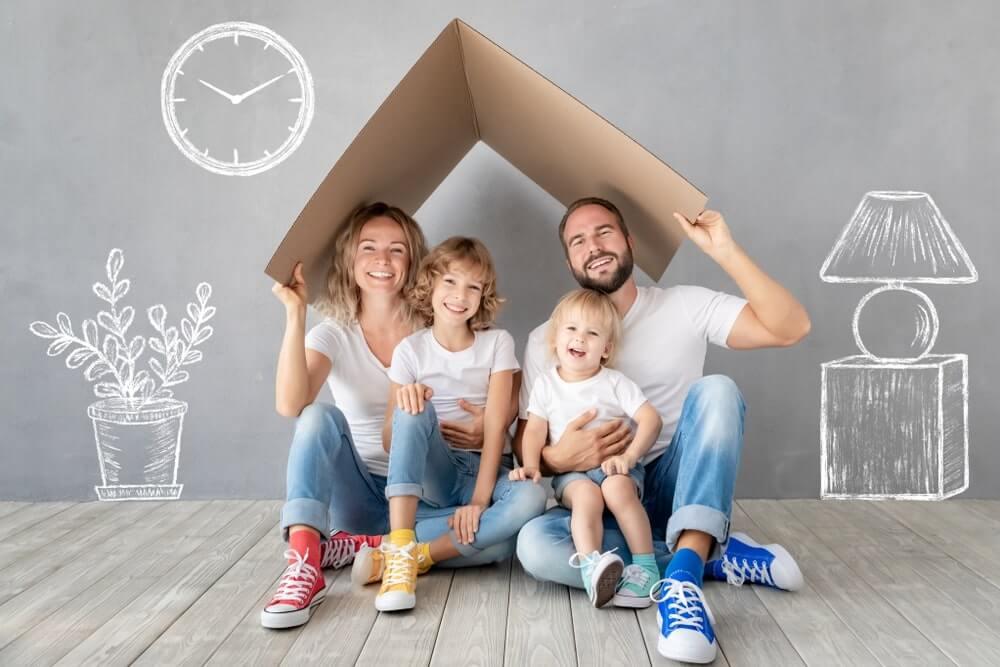 Une famille emménage